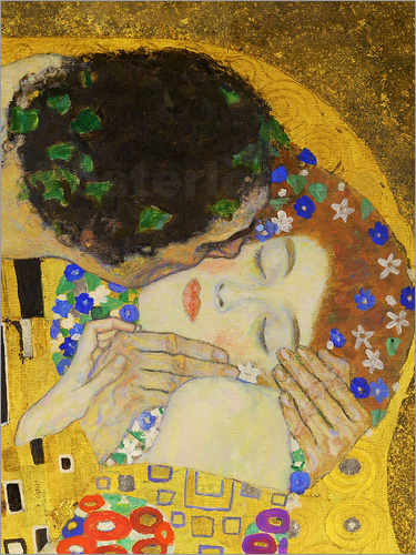Poster The Kiss (detail)