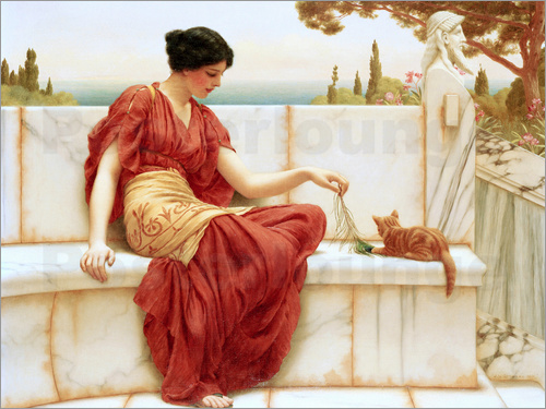 John William Godward - The Tease (The Favourite)