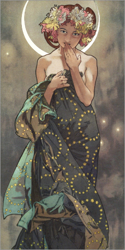 Alfons Mucha - The Moon