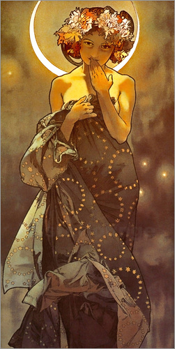 Alfons Mucha - The moon - decorative