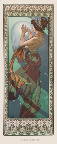 Alfons Mucha - The Polar Star - decorative