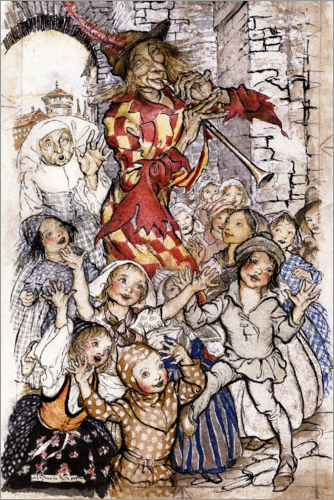 Arthur Rackham - The Pied Piper and the Children