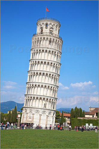 Poster Leaning tower of Pisa, Italy