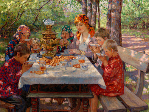 Nikolay Bogdanov-Belsky - The Teacher's Guests
