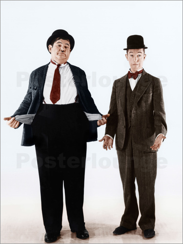 Poster Laurel & Hardy with empty pockets
