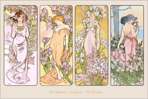 Alfons Mucha - The flowers