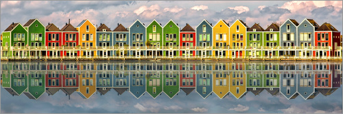 Sabine Wagner - The colorful houses of Houten   Netherlands