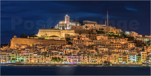 Fine Art Images - Ibiza Spain castle by night