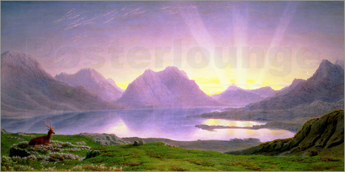 William Turner of Oxford - The Dawn, Loch Torridon