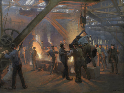 Peder Severin Kroyer - The iron foundry
