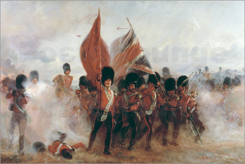 Lady Butler - The Colours: advance of the Scots Guards at the Alma