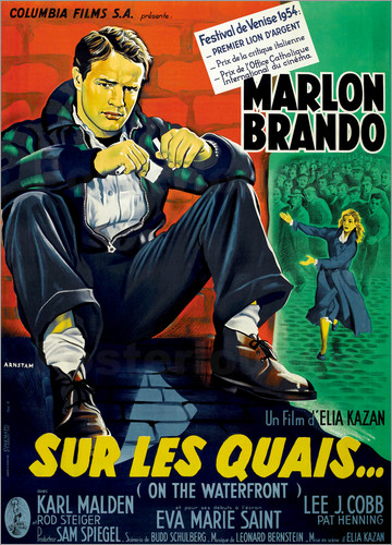 ON THE WATERFRONT, (SUR LES QUAIS), Marlon Brando