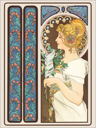 Alfons Mucha - The Feather, decorative