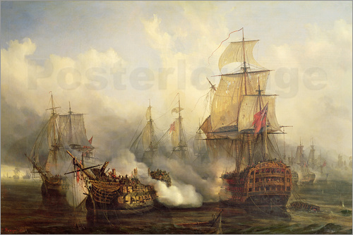 Auguste Etienne Francois Mayer - The Redoutable at Trafalgar