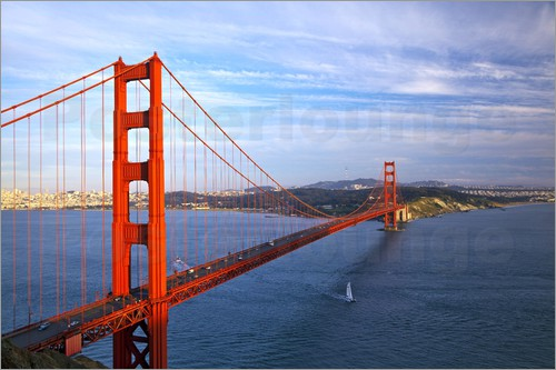 Chuck Haney - The Golden Gate Bridge from the Marin Headlands in San Francisco