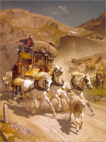 Rudolf Koller - The Gotthard Post, 1873