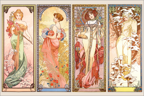 Alfons Mucha - The Four Seasons