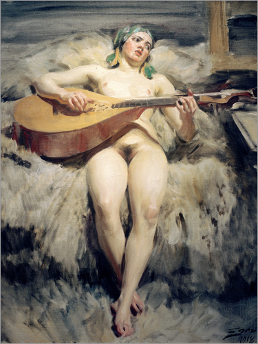 Anders Leonard Zorn - The Lute Player