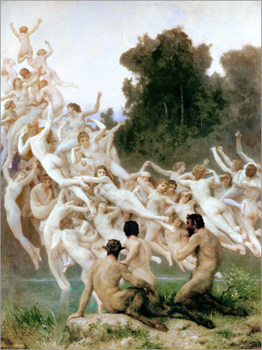William Adolphe Bouguereau - The Oreads