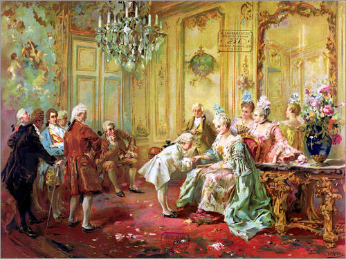Vicente de Paredes - The presentation of the young Mozart in Versailles