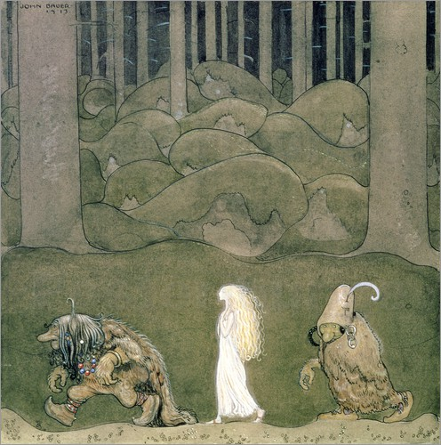 John Bauer - The Princess and the Trolls, 1913