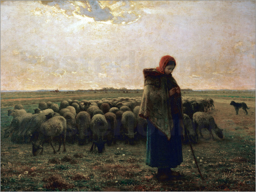 Jean-François Millet - The shepherdess