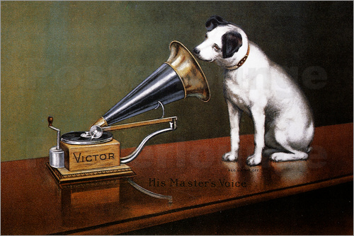Poster His Master's Voice Ad, The Theatre