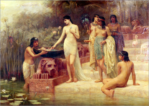 Edwin Longsden Long - Pharaoh's Daughter - The Finding of Moses