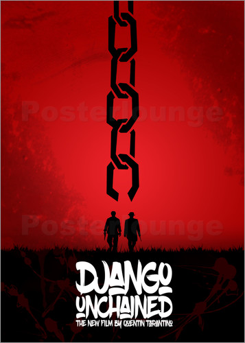 Poster Django Unchained - Minimal - Tarantino Alternative