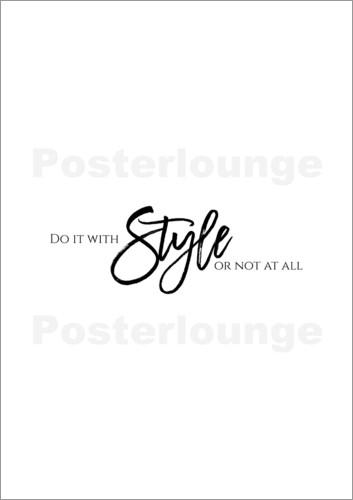 Poster DO IT WITH STYLE