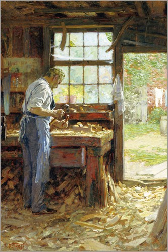 Edward Henry Potthast - Village Carpenter