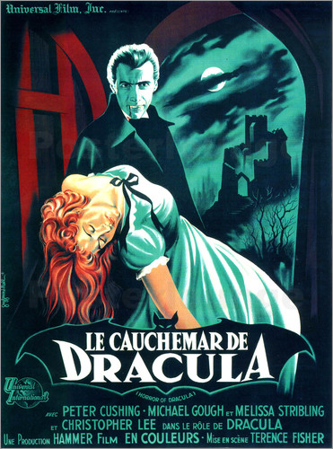 posters affiches de dracula 1958 posterlounge. Black Bedroom Furniture Sets. Home Design Ideas
