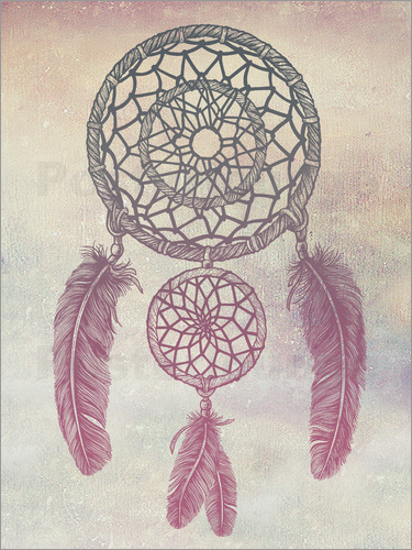 Poster Dream Catcher Rose