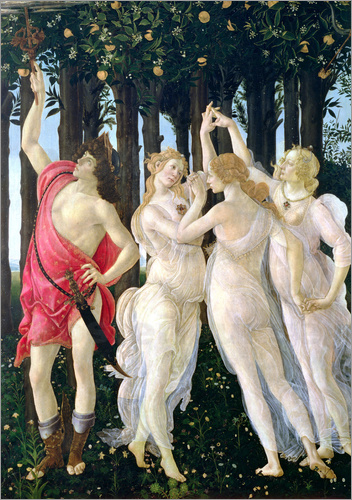 Sandro Botticelli - Detail of the Three Graces and Mercury, from the Primavera