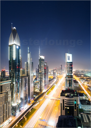Matteo Colombo - Dubai city skyline at night, United Arab Emirates