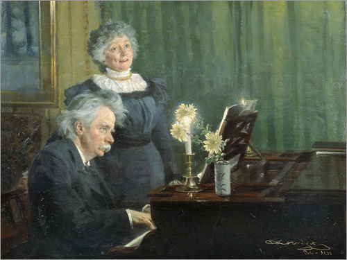 Peder Severin Kroyer - Edvard Grieg and his wife