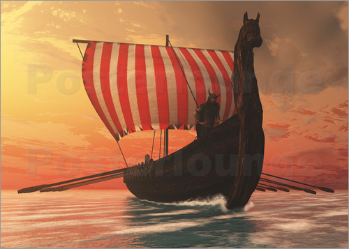 Corey Ford - A Viking longboat sails to new shores