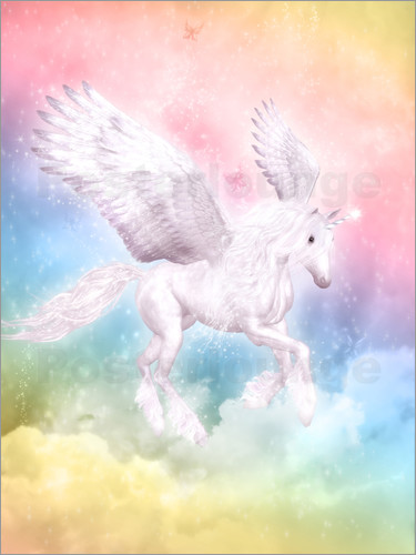 Dolphins Dreamdesign Unicorn Pegasus Big Dreams Poster