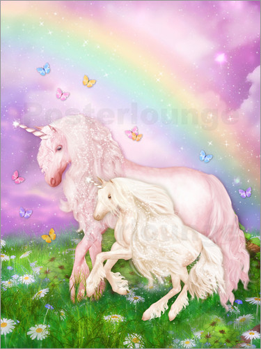 Poster Unicorn Rainbow Magic