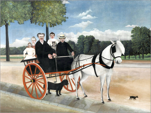 Henri Rousseau - Einspänner the old Junier