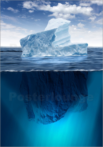 Poster Iceberg in the ocean
