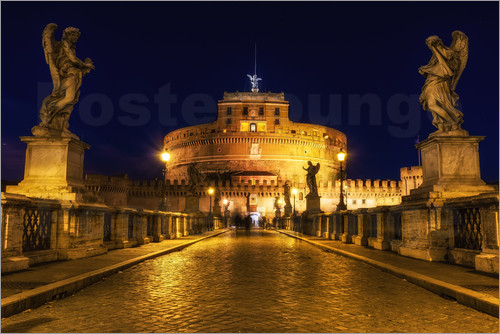 Poster Ponte Sant'Angelo in Rome