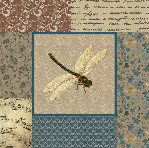 Poster English Manor dragonfly