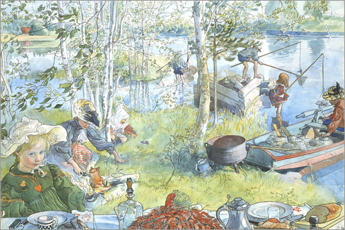 Carl Larsson - Opening of the crab fishing season