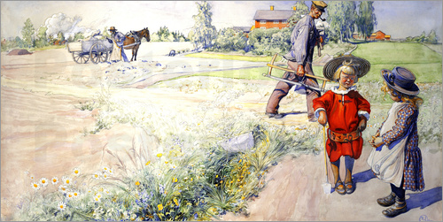 Carl Larsson - Esbjorn with a little girl