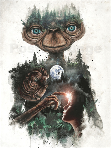 Poster E.T. the extra terrestrial