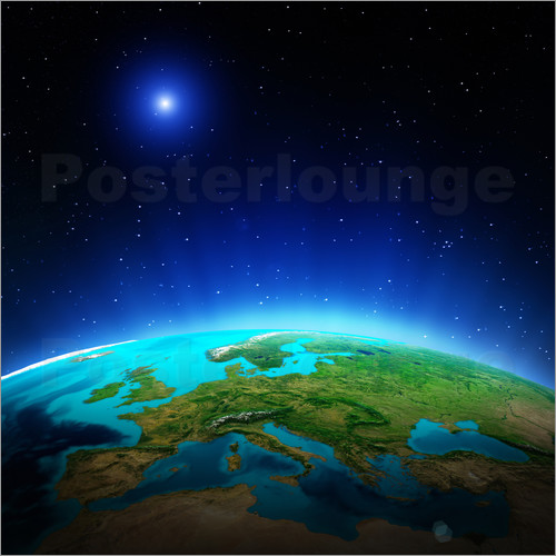 Poster Europe on planet Earth