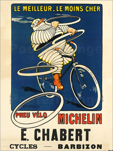Poster Bicycle tires Michelin