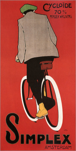 Poster Bicycles in Amsterdam