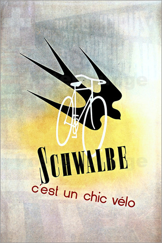 Poster Bicycles - Schwalbe, cest un chic velo